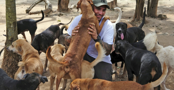 """""""A Perfect Example of Humanity"""" - Man opened Mexico home to 300 dogs to shelter them from Hurricane Delta"""