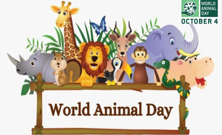 4th October, World Animal Day - Let's Become an Hero & Make a Difference for Animals